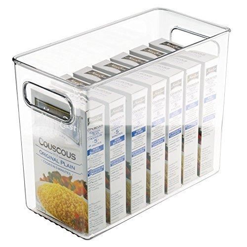 mDesign set da 2 contenitori frigo – Ideali come contenitori congelatore e scatole per alimenti – Colore: trasparente