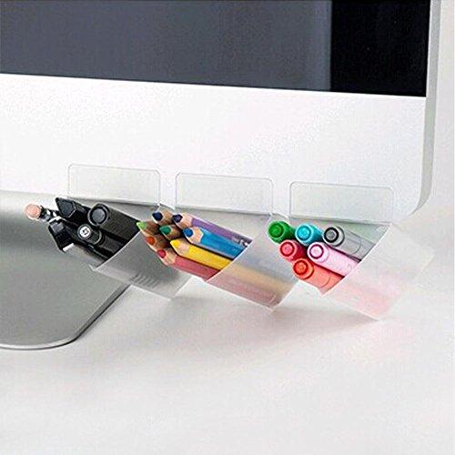 Monitor-Speicher-Briefpapier, kreativer Diy-Schirm-Stift-Bleistift-Halter-Desktop-Zusatz-Taschen-Schreibtisch-Organisator-Behälter-Aufbewahrungsbeutel-5PCS