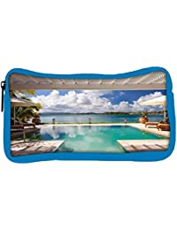 Snoogg Eco Friendly Canvas Resort Swimming Pool Designer Student Pen Pencil Case Coin Purse Pouch Cosmetic Makeup...