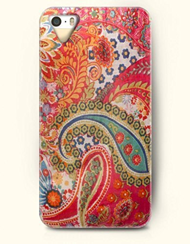 OOFIT Apple iPhone 5 5S Case Paisley Pattern ( Bright Buteh Tree )