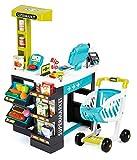 Smoby- Supermercato con Carrello, Colore Turchese/Verde, 7600350206