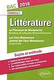 La Princesse de Montpensier, Madame de Lafayette/Bertrand Tavernier - Les Faux-Monnayeurs et Journal des Faux-Monnayeurs, Gide. Sujets et méthode. BAC L 2018...