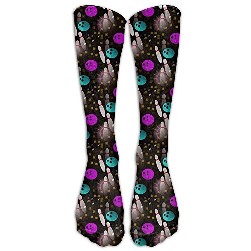 pigyear1101 Night Fun Bowling Compression Socks Foot Long Stockings Anti Fatigue Varicose Veins Socks For Men Women Supports Sport Running Cycling Football Slim Leg Travel Medical Nursing.
