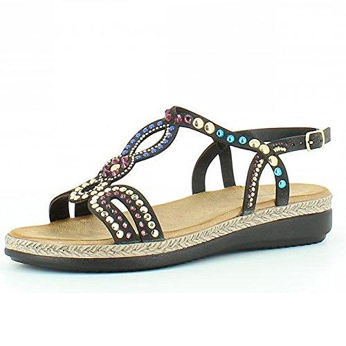 Heavenly Feet , Damen Sandalen Schwarz
