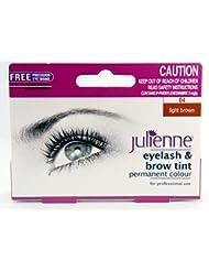 Julienne Eyelash And Eyebrow Permanent Light Brown 04 Colour Tint 15Ml