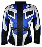 Bangla 1535 Kinder Motorrad Jacke Textilmaterial Cordura 600 Blau-Schwarz-Weiss 164