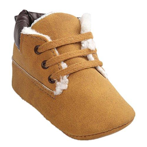 Amlaiworld Baby Kleinkind Weiche Sohle PU Leder Schuhe Baby Boy Girl Schuhe (11cm, Braun) (Mädchen Cowboy-stiefel, Größe 11)
