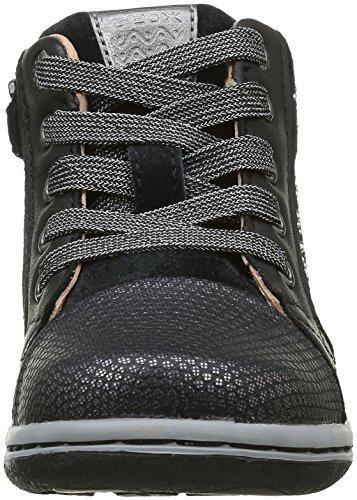 Geox B Flick D, Chaussures Marche Bébé Fille Schwarz (BLACKC9999)