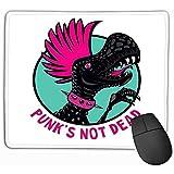 Tapis de Souris Punk Dinosaure Coupe de Cheveux Rose Personnage de Bande dessinée isolé idée de masot Imprimer Rectangle en Caoutchouc Mousepad...