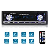 MEKUULA Autoradio 1 din Bluetooth Stereo, 4x60w MP3 Car Radio Ricevitore Auto Audio FM Riproduttore USB/SD / AUX con Telecomando
