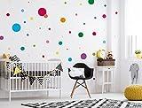 I-love-Wandtattoo Adesivo murale Set Camera Bambini Motivo a Cerchi Colorati Pezzi