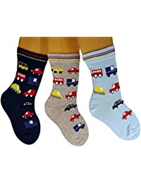 Baby/ Kinder Socken 3-er Pack allover Auto