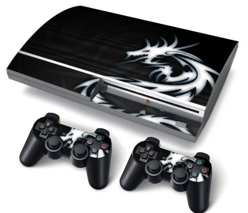 Funky Planet PS3 Fat PlayStation3 Fat Designfolie Sticker Skin Set für Konsole + 2 Controller by (Dragon Triball)