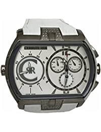 Cerruti 1881de los hombres del cronógrafo GMT reloj 57x 40mm blanco con diamantes