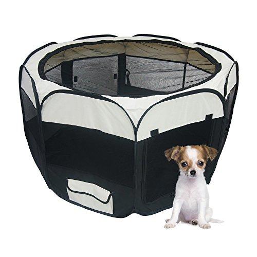 Schwarzer Tierlaufstall – Welpenauslauf für innen oder außen – einfach aufzubauen - 5