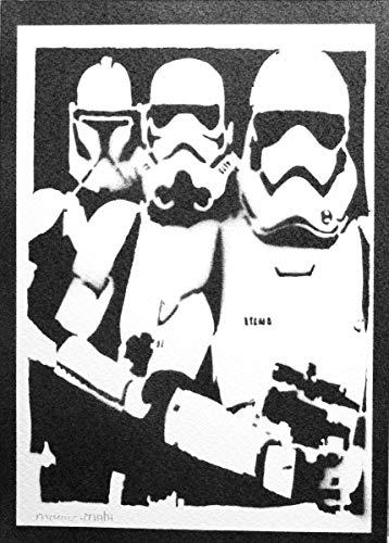 Stormtrooper Evolution STAR WARS Poster Plakat Handmade Graffiti Street Art - (Deluxe Jedi Kostüm)