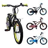 AMIGO - Cross - Bicicletta Bambini - 18'' (per 5-8 Anni) - Nero