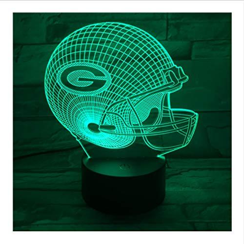 ers Helm USB 3D Led Nachtlicht American Football Team Logo Jungen Kind Kinder Fans Geschenk Schreibtischlampe Schlafzimmer Lampara ()