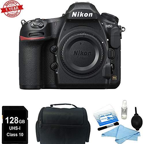 Nikon D850 45.7MP Full-Frame FX-Format Digital SLR Camera (Body Only) + 128GB Starter Bundle *Battery | Charger | Warranty*