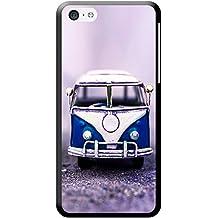 Old Camper Van carcasa rígida para teléfonos móviles, plástico, Old Blue Camper Van, Apple iPhone 5c