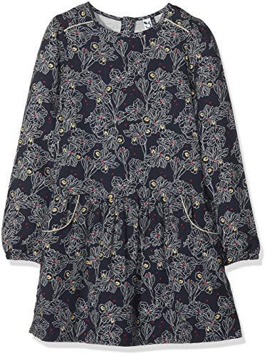 3 pommes Mädchen Kleid Dress 3M30134 Blau (Navy Blue 49) 3-4 Jahre (Herstellergröße: 3Y/4Y)