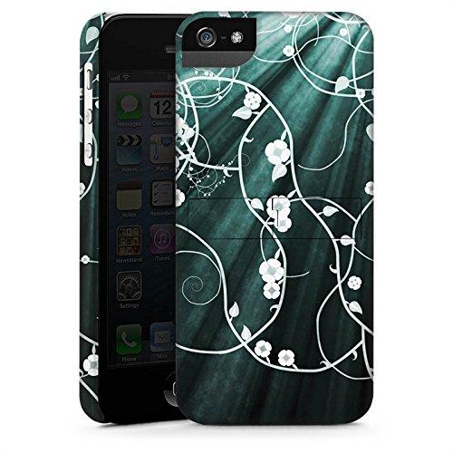 Apple iPhone X Silikon Hülle Case Schutzhülle Blumen Muster Licht Premium Case StandUp