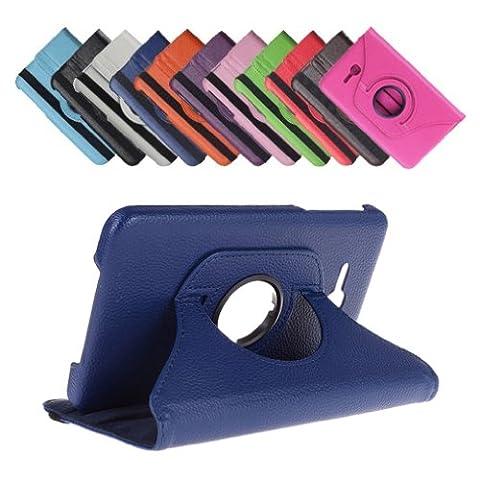 Bralexx 360° Rotation Tasche für Samsung Galaxy Tab 3 7.0 Zoll Lite, Blau