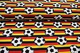 Jersey Fußball und Streifen in schwarz rot gelb