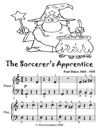 Sorcerer's Apprentice Paul Dukas Easy Piano Sheet Music Tadpole Edition (English Edition)