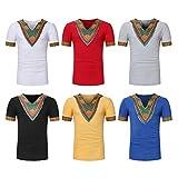567ca0af243d Domybest Afrikanische Kleidung Herren Dashiki Slim CT65 3D Druck Fest  Kompression Langarm-Shirt Grundschicht für