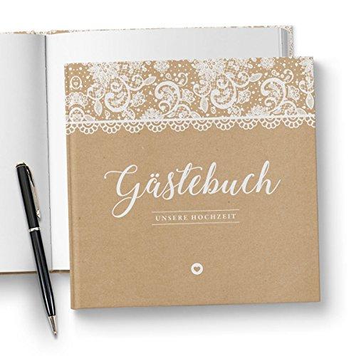 Vintage Gästebuch ohne Fragen
