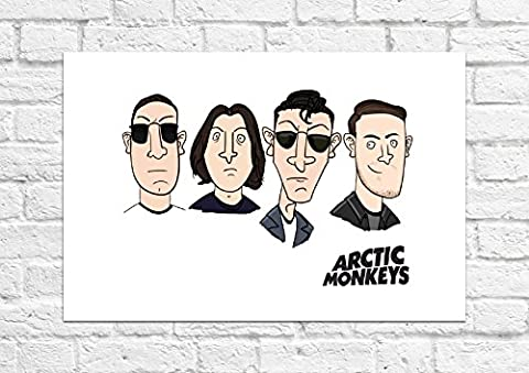 Arctic Monkeys – Cartoon Imprimé Art Poster – Sans cadre