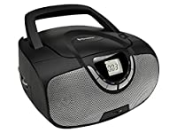 Roadstar Portable Stereo System with CD/MP3 Player, USB and AM/FM Radio - Black