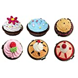 DISOK Pack de 12 Bálsamos Labiales en Forma de Cupcake Pastelitos, PVC, 9x14x19 cm