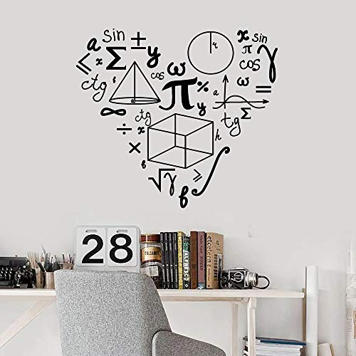 Matematica Love Pattern Wall Stickers For School Math Decalcomania da muro in vinile Decor Teen Room Classroom Decoration Art Murals W406