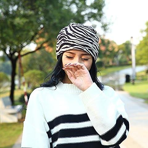 Esclusivo Unisex cavo caldo maglia spessa Slouch Beanie Hat Cap sci , black