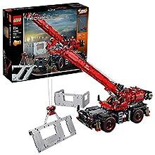 Lego - Technic Grande Gru Cingolata con Motori Power Functions, Sovrastruttura Motorizzata, Stabilizzatori, Argano e Braccio, con Funzioni Manuali, Set di Costruzioni per Ragazzi +11 Anni, 42082