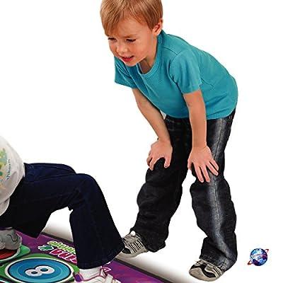 Denny International New Children Kids Electronic Music Dancing Challenge Playmat Dance Touch Sensitive Musical Play Mat Fun Toy