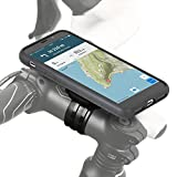 Wicked Chili Fahrradhalterung Apple iPhone X, QuickMOUNT Bike Case + Lenker Adapter + wetterfeste Schutzhülle Handyhalterung für Fahrrad Lenker und Vorbau, Ladekabel/Headset Buchse schwarz