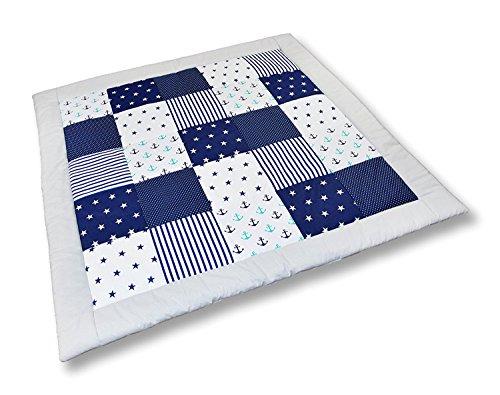 Preisvergleich Produktbild Amilian® Krabbeldecke Patchworkdecke Spieldecke Decke (M025) (105x105 cm)