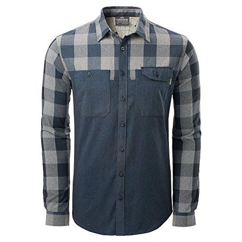 Kathmandu zusammenschließen Herren Travel Hemd Shirt Midnight/Grey Check
