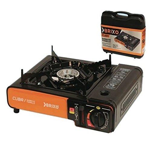 Azimuthbrico fornello portatile da campeggio per cartuccia gas butano con valigetta