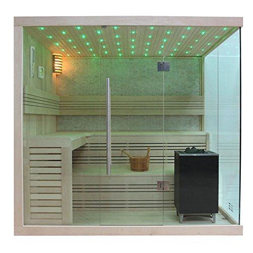 Preisvergleich Produktbild EO-SPA Sauna B1105C helle Pinie/180x180/9kW EOS BiO-MAX