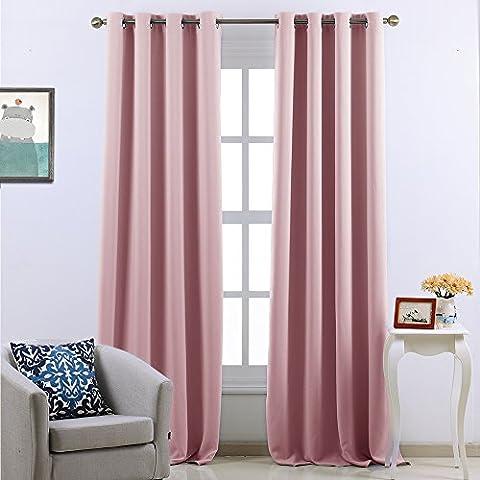 Eyelets Blackout Curtains Window Treatment - PONYDANCE Readymade Super Soft