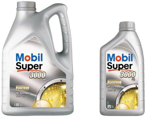 Mobil 1 150566 Leichtlaufmotorenöl Super 3000 X1 5W-40, 5 Liter plus 1 Liter