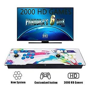 Tinder Pandora's Box 6S 2020 Games 1280x720 Full HD, CPU Avanzada con 2 Joystick Partes de la Fuente de alimentación HDMI y VGA y Salida USB