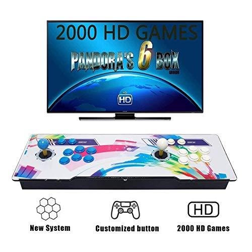 Tinder Console per videogiochi, Arcade Machine 2000 giochi classici, 2 giocatori di Pandoras Box 6 , 1280x720 Full HD, CPU avanzata ,alimentazione HDMI e VGA e uscita USB