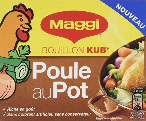 Maggi Bouillon KUB Poule au Pot 15 Cubes 150 g - Lot de 10