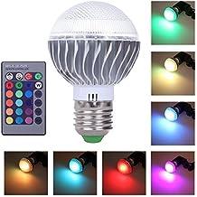 Eplze® 3W RGB Magia Lampada LED Leggero Lampadina con E27 Base + Remoto Controllo 16 Colore Cambiare Riflettore per Festa Bar Mostra Centro