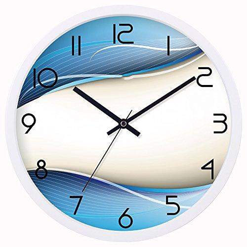QFFL Horloge murale/Mute Horloge murale ronde/Horloge murale en métal/Chambre à coucher Horloge murale/Horloge décor à la maison Horloges et montres (Couleur : B, taille : 20 * 20CM)